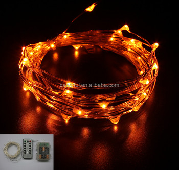 Battery Led Orange Lights Waterproof Operated 100 Fairy String For Christmas Tree