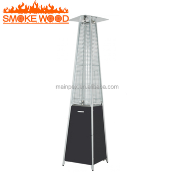 Hot Sell Modern Design Glass Tube Flame Patio Heater Pyramid Flame Cheap  Gas Heater Orchard Gas