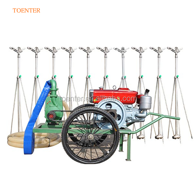 Traveling with diesel water pump sprinkler irrigation system machine agricultural