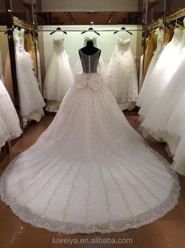 ec6853038859e فاخر الكرة ثوب السباغيتي حزام تصميم فستان الزفاف في دبي-ملابس أم ...