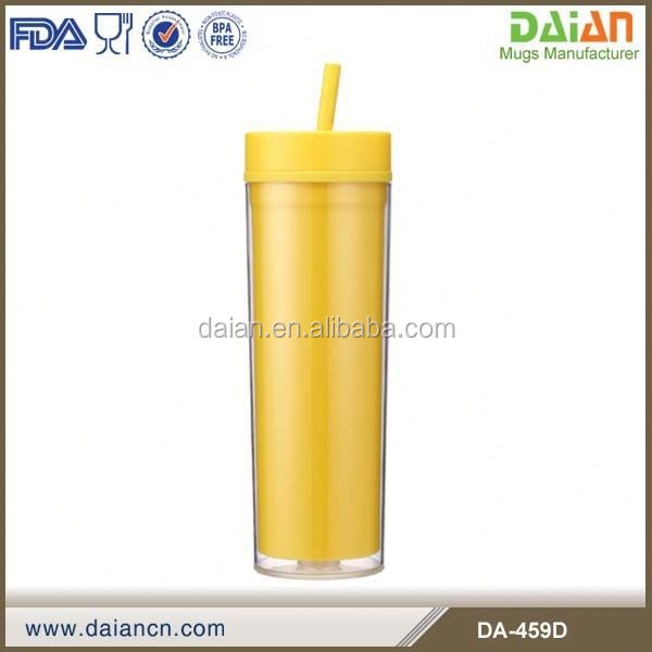 Hot Sale 3d cheap bulk acrylic tumbler with straw wholesale