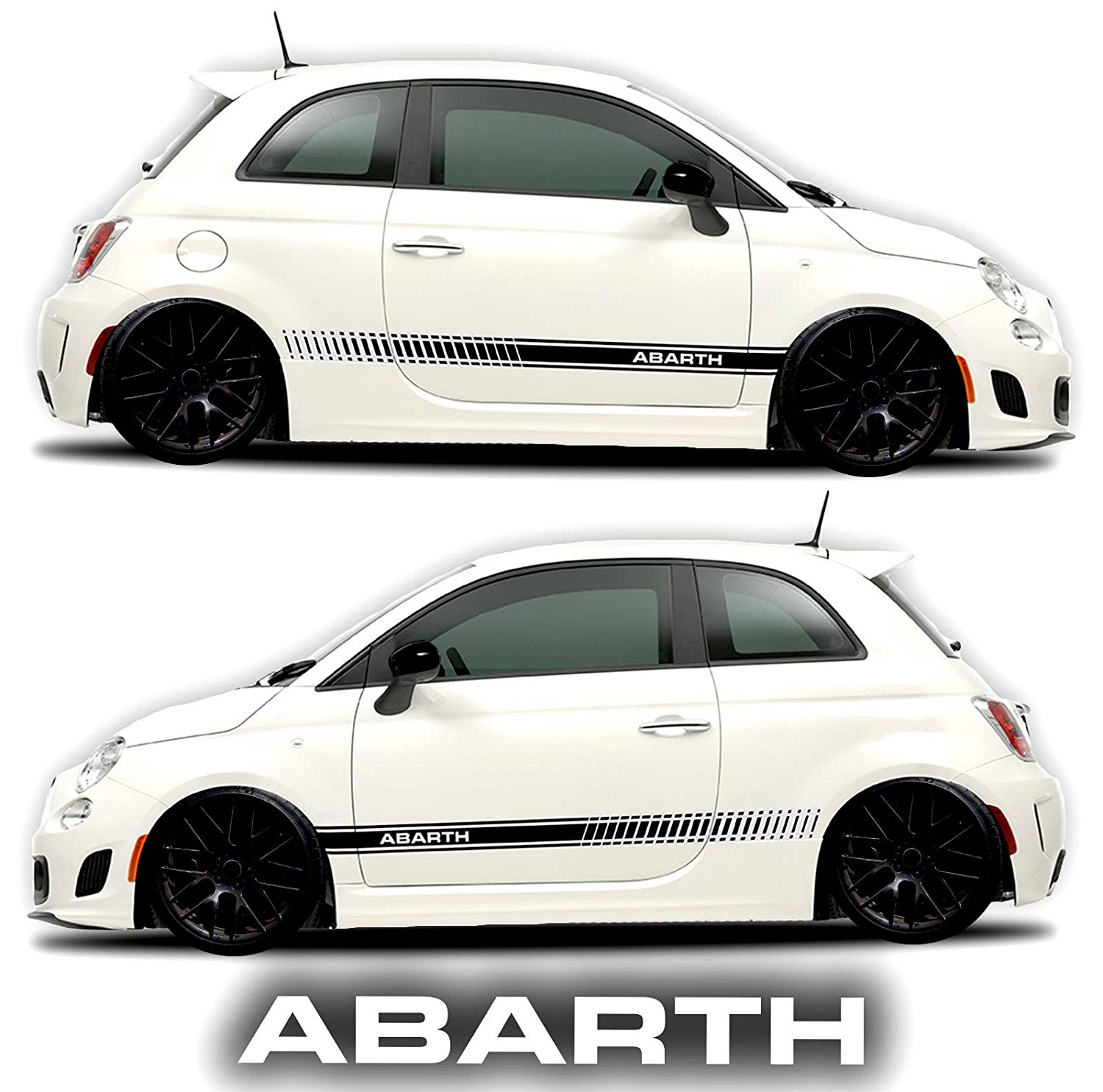 Buy Fiat 500 Abarth Side Decals Stickers Rocker Panel Racing Stripes