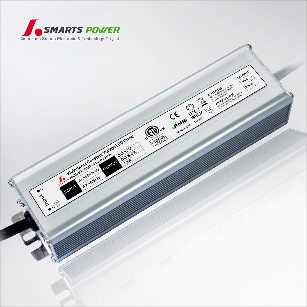 12 volt 72w led driver regulated constant voltage led power supply 12v
