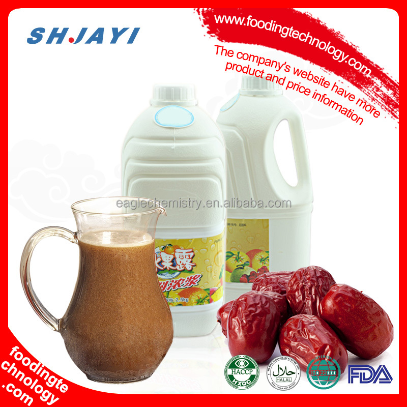 Taiwan Red Date Flavor Fruit Syrup Concentrate Suppliers For Bubble Tea Ingredients
