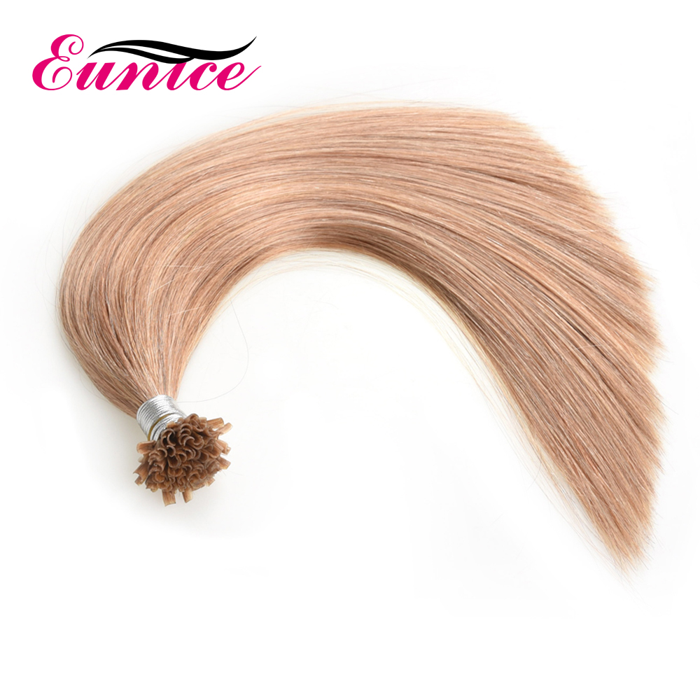100% Cuticle Aligned Brazilian Hair Stick Nail Tip Hair, U Tip Hair Extensions Available