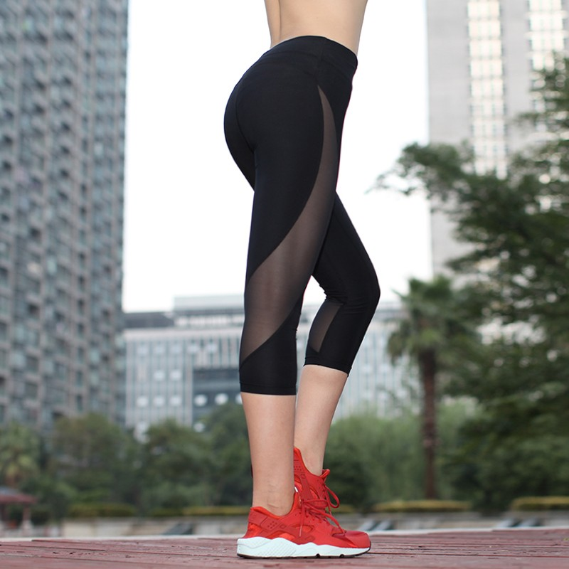 2016 New Style Fashion Women Sports Cropped Trousers 3 4 Women Mesh Leggings Buy 3 4 Women Tight Mesh Leggings Women Runing Leggings Pants Ladies Sport Leggings Product On Alibaba Com