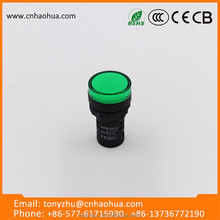 red and green indicator light 120v mini LED type metal material