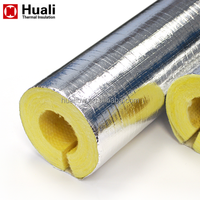 Large diameter pipe insulation 50mm glass wool pipe fiberglass wool