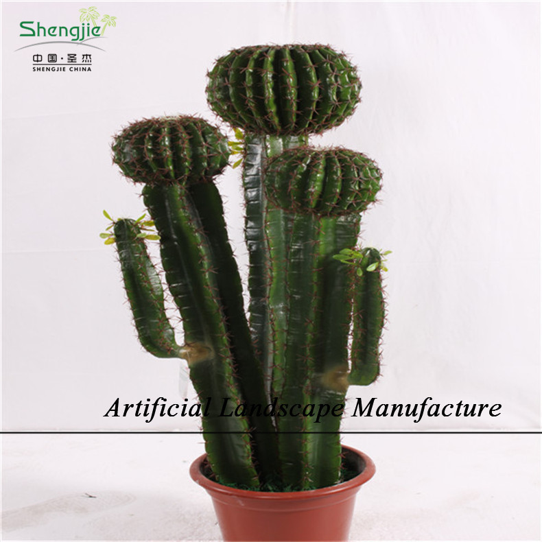 Sjzc03 Artificial Outdoor Cactus Plants Plastic Lucky