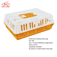 High quality cheap folding live plastic small transport broiler crate chinese coop layer chicken cage