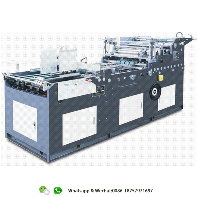 HL-TC-1080 volautomatische papier doos windows patchen machine/glasfolie lijmen machine voor papier geschenkdoos