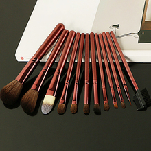 2018 hot 12pcs high cost effective private lable cosmetics makeup brushes high quality make up brushes