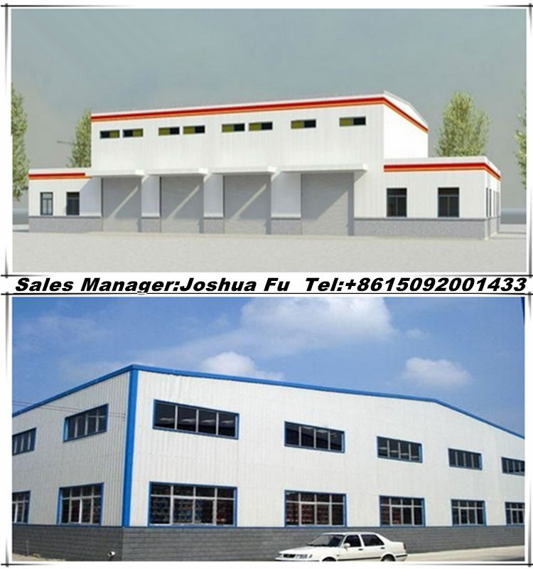 Modern truck accessible prefab steel structure warehouse/workshop