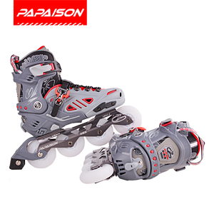 Factory waterproof clubs attachable Inline Skates rubber wheels Professional Roller skates with CE Certification