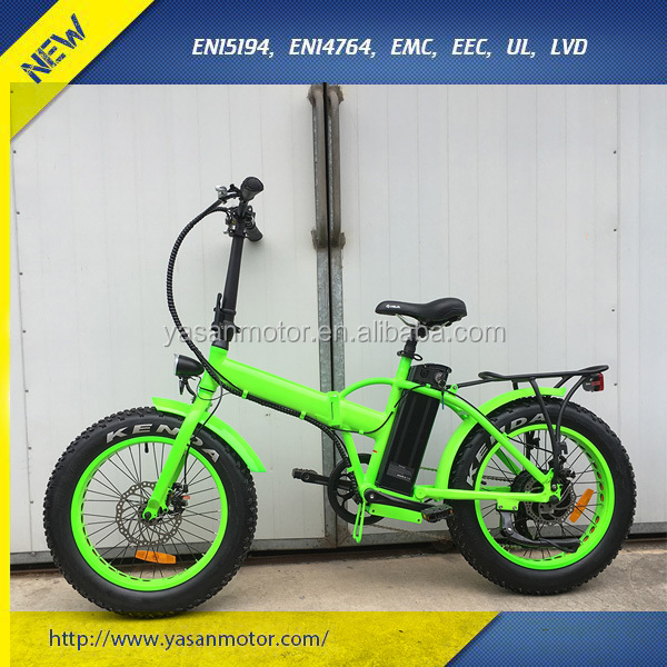 "48V 500W Brushless Ebike 20"" Beach Fat Tire Electric Bike for Sale"