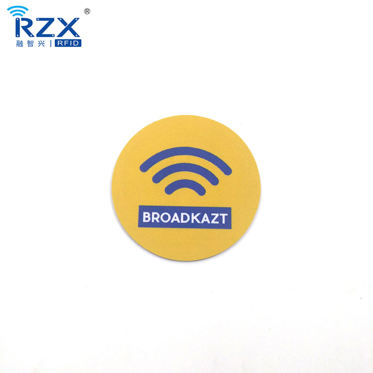 Mobile Phone Application Waterproof NFC RFID On Metal Mounted Sticker Tag