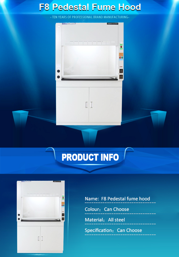 Galvanized steel welding soldering fume extractor Lab Fume Hood Laboratory Commercial Furniture