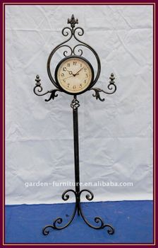 Grandfather Clock Antique Metal Floor Standing Clock