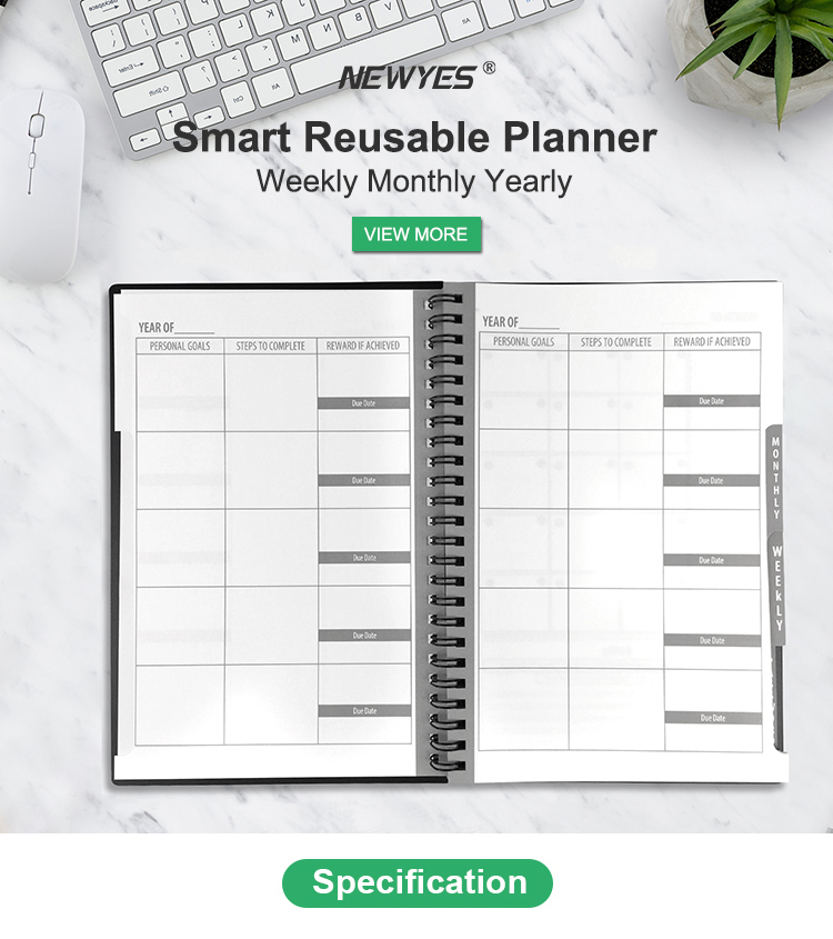 Christmas Gift A5 Cover Business Reusable Notebook Smart Erasable Month Planner