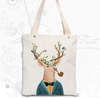 HF-CB-33 Zhejiang Shaoxing Canvas bag thickening handbags fine cotton and linen bags creative arts students bags