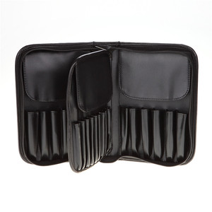 Pu Leather Makeup brush' Roll Case Cosmetic Brush Set Book Shaped Bag Holder Case