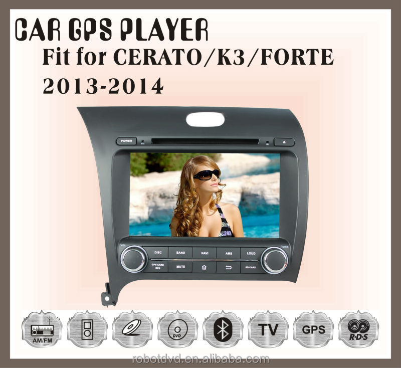 Fit for KIA CERATO/K3/FORTE 2013 2014 car audio player with gps