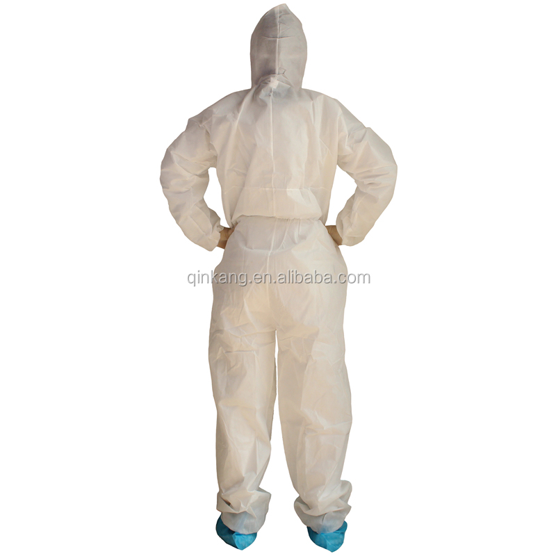 Anti-Static Antibacterial Coverall Work Clothes Protective Clothing Protective Clothing Chemical Protection Suit For Pharmaceutical Laboratory XL Chemical Protective Coveralls