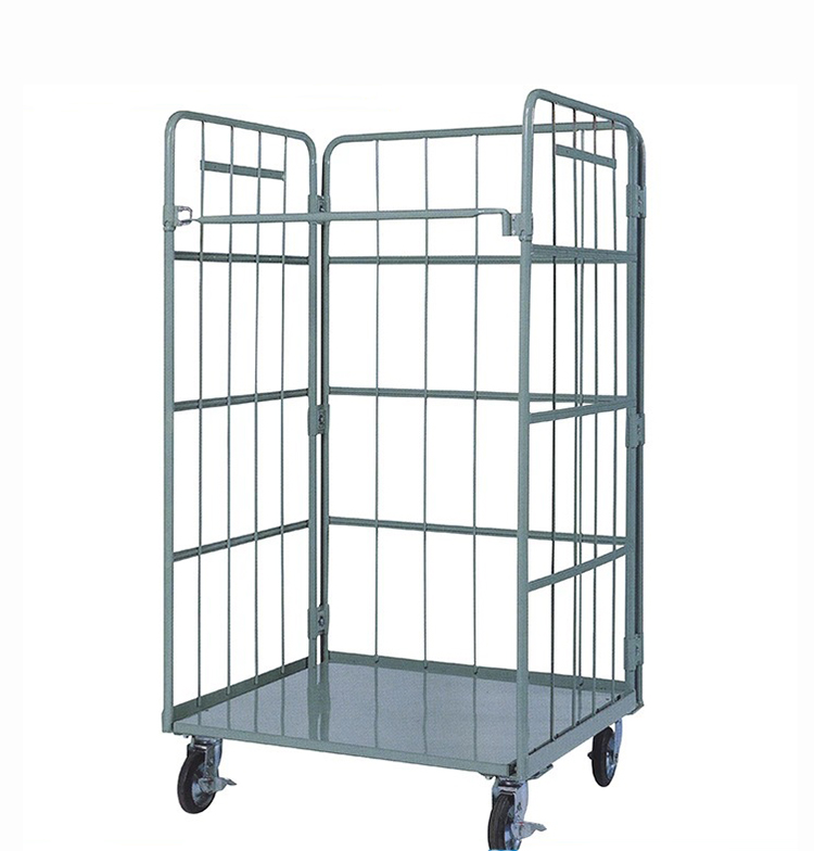 Hot sales product supermarket wire metal iron roll cages trolley