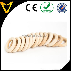 Baby Teething Wood Rings, Round - 1 34 inch Unfinished Wooden Rings for DIY