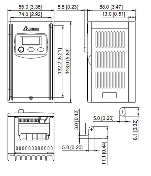Vfd002s23a Delta Vfd S Vfd Inverter Frequency Converter