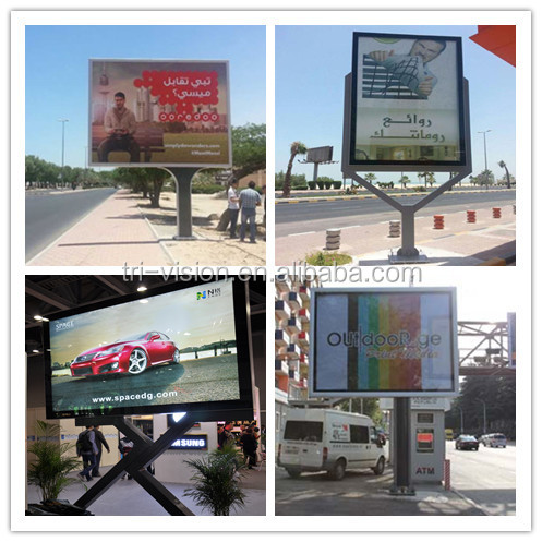Outdoor Street Standing Advertising Led Scrolling Billboards Light ...