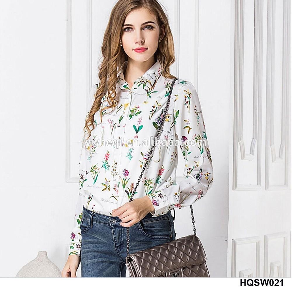 2015 blusa de moda dise os de la mujer camisa de gasa
