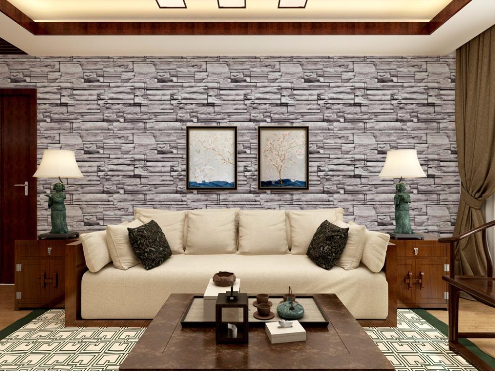 US $26.99 10% OFF|3 farben Retro nachahmung ziegel stein muster tapete  wohnzimmer 3D TV wand tapete kleidung speichert arbeitet Hotel tapete-in ...