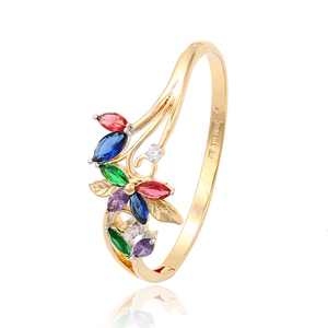 51281 Xuping new simple designs flower multicolor bangles for women