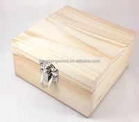 2015 Wholesale Natural Unfinished Cheap Wooden Fruits Vegetable Crates Wood Packing Boxes