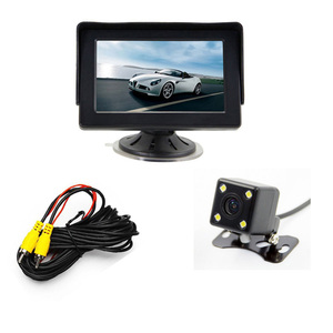 Car reverse camera with monitor 4.3 inch