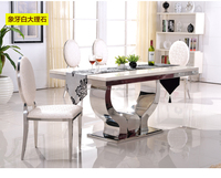 2019 new design gold stainless steel dining table for wedding&hotel&banquet