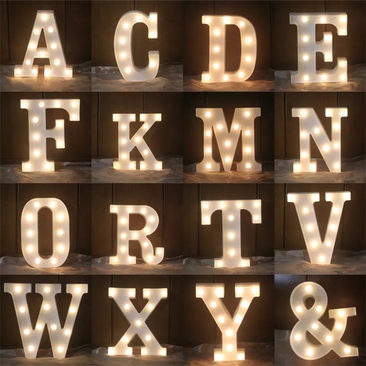 Bar Pub Party Decor  Lights Marquee Signs Remote Control Desk Table Lamp  Black BAR Marquee Letters