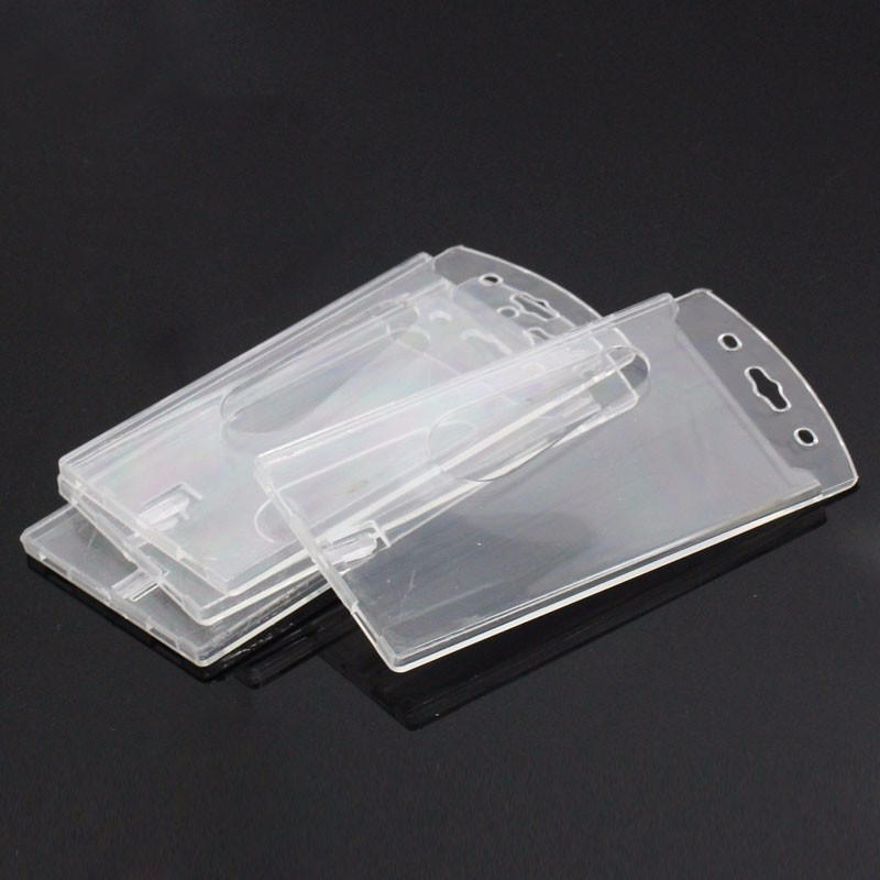 wholesale clear transparent vertical plastic hard id card