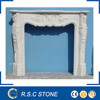 French style carved white marble fireplace on promotion