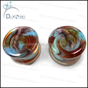 latest glass ear plug tunnels piercing