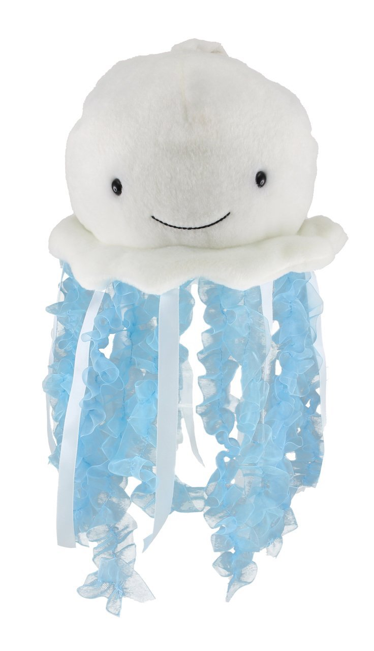 """Cuddle Barn Bubbles The Jellyfish Light-Up Musical Stuffed Animal, 12"""" Plush Toy Attaches to Crib Mobile has Soft Illuminating Lights and Soothing Ocean Wonder Melody to Help Baby Sleep"""