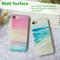 Factory directly supply clear matte 3D relief cell phone case for Mobile Phone