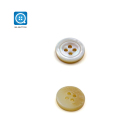 Soukou China button supplier 4 Holes White mother of pearl buttons shell buttons for shirts and Fashion Clothing