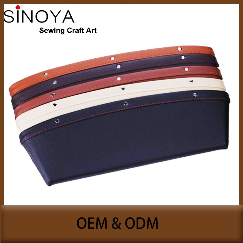 High quality sewing <strong>ABS</strong>+PU leather car seat side pocket 5 colors