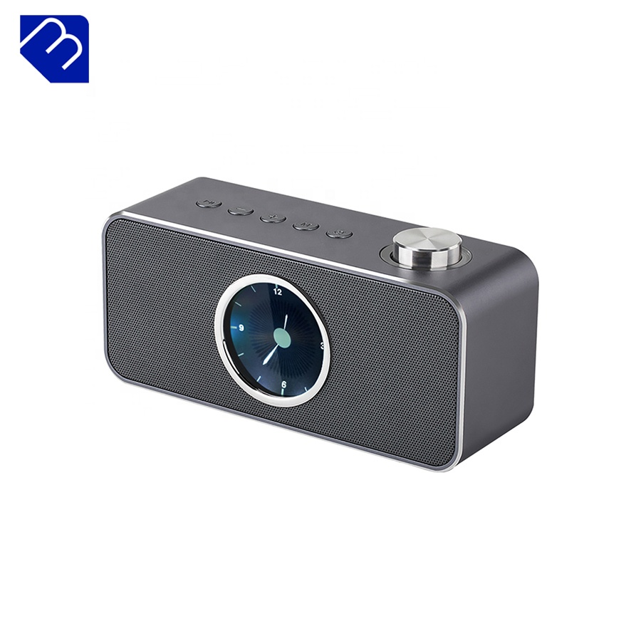 Mini Altavoz Bluetooth 2018 reloj de alarma