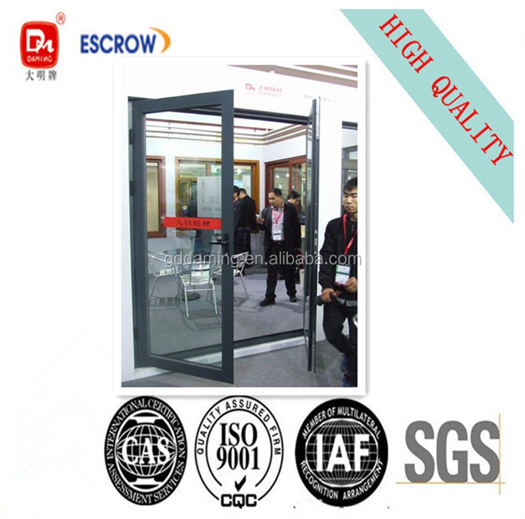 double swing aluminium door