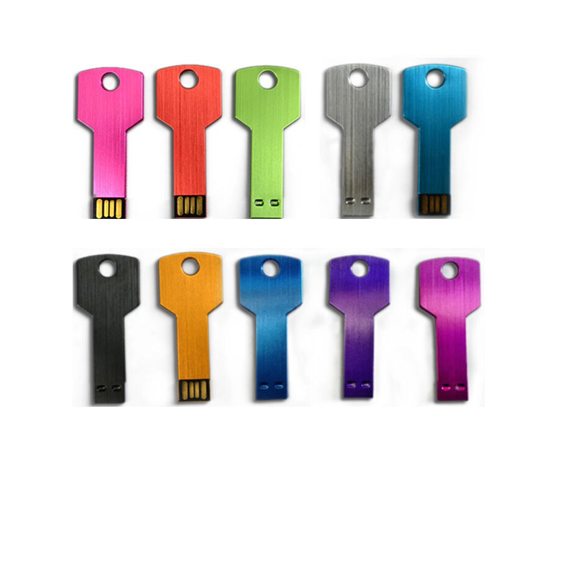 Promotional gifts cheap product wholesale metal key USB flash drive with many colors