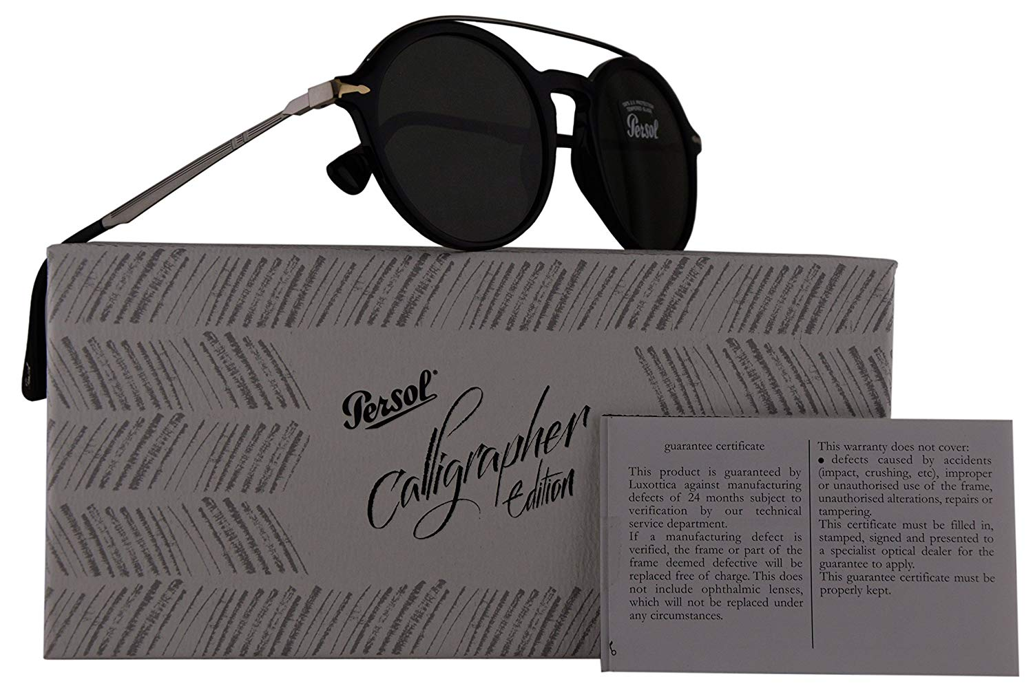 d6d626df52 Get Quotations · Persol PO3172S Calligrapher Edition Sunglasses Black w Dark  Green Lens 51mm 9531 PO 3172-
