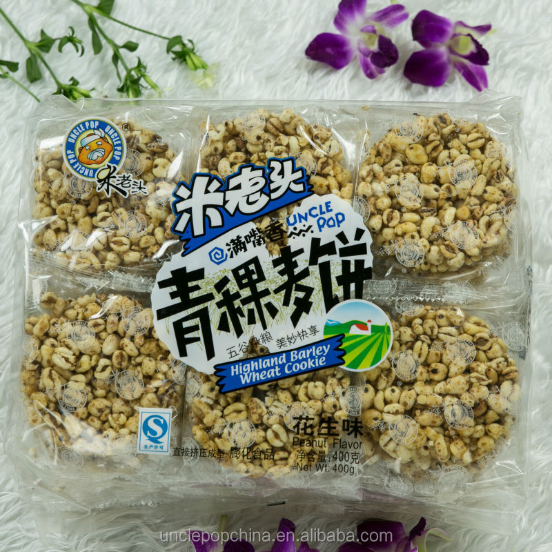 400g (peanut flavor) highland barley puffed wheat crackers